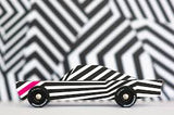 [Candylab Toys] Ghost Wooden Car - Modern Vintage Style - Solid Beech Wood