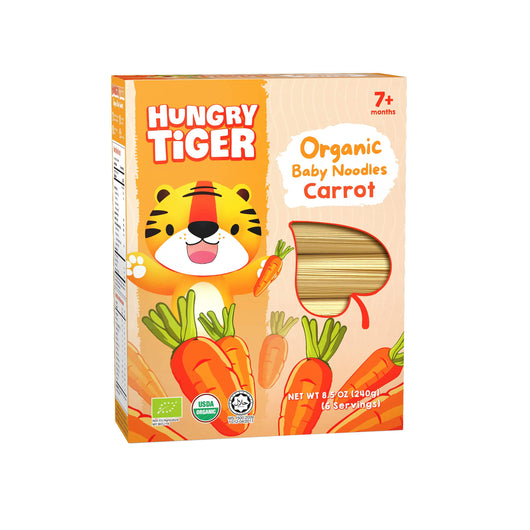 [Hungry Tiger] Organic Baby Noodles Carrot 7m+ (240g)
