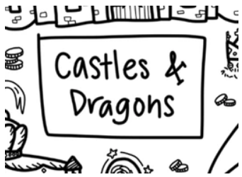 [Drawnby:] Castles & Dragons Washable Silicone Colouring Mat + 14pcs Markers Set