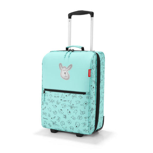 [Reisenthel Kids] Trolley XS Kids Luggage Bag, Waterproof & Tear-proof - Cat and Dog Mint
