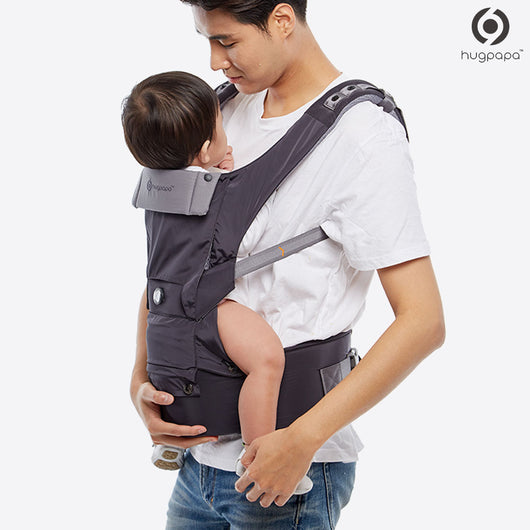 2019 New Edition Hugpapa Dial-Fit 3-In-1 Hip Seat Baby Carrier (Charcoal)