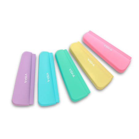 [VIIDA] The Chubby Series Multipurpose Waterproof Durable Silicone Pouch (Small) - Innovative Pinch-Press Seal - Eco-Friendly