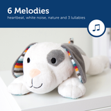 [Zazu] Baby Sleep Soother Soft Toy with 6 Melodies, Cry Sensor and Voice Shake Activation Sound, Dex the Dog / Liz the Lamb / Don the Donkey - 0months+