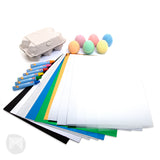 [MiCADOr] Early stART Sensory Drawing Pack with Washable Pastels Egg Chalk, Cards and Artboards EGS01 - 2years+
