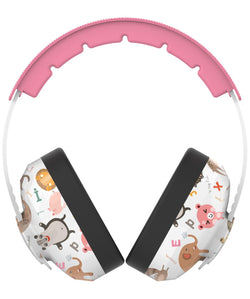 BAMiNi Safe Travel Protection Noise Reduction Kids Earmuffs in Pink