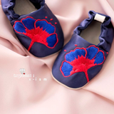 [TinySoles] Pre-walkers Soft Soled Baby Walking Shoes - Indonesian Heritage collection, Flora Merah