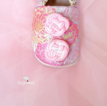 [TinySoles] Pre-walkers Soft Soled Baby Walking Shoes - Lunar Collection, Happiness in Pink