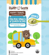 Happy Spoon Happy Travel Instant Freeze-dried Blend Baby Meals - Fish, Quinoa, Peas and Spinach (Step 2: 9+ months)