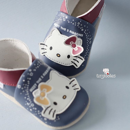 [TinySoles] Pre-walkers Soft Soled Baby Walking Shoes - Hello Kitty & Mimmy - 100% Genuine Leather