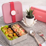 [VIIDA] The Morgen Series Kassie Stainless Steel Lunch Box with Leak-proof lid - LFGB Germany, FDA & SGS Certified Safe