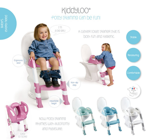 [Thermobaby] Kiddyloo Foldable Toilet Trainer with Adjustable Step, Made in France - 18months+