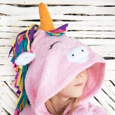 [Savana] Pink Unicorn Hooded Poncho Towel for Kids - 100% Cotton Suitable for Indoor / Outdoor - 11 designs