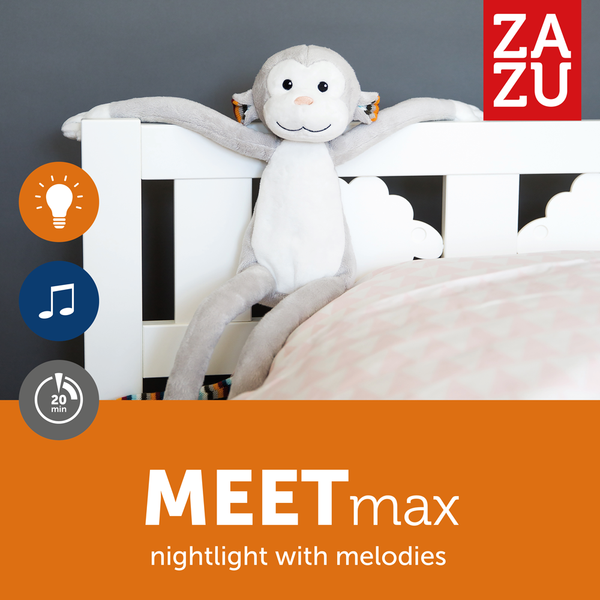 [Zazu] Soft Toy Night Light Sleep Soothers with Melodies, Max the Monkey, Bo the Bunny, Katie the Kitten - 0months+
