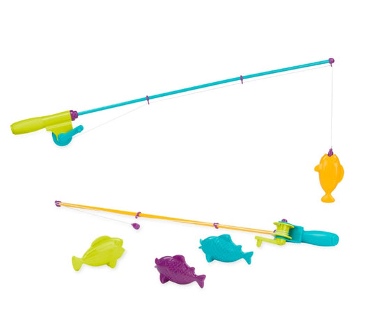 [Battat] Magnetic Fishing Set Outdoor Toys Fishing Game with 2 Magnetic Rods and 4 Fish for Kids BT2540Z - 3years+