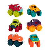 [Battat] Mini Monster Trucks 6 Pieces Set Heavy Duty BT2521Z - 2years+