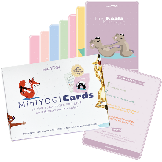 [MiniYOGI] Box of 50 kids Yoga Cards