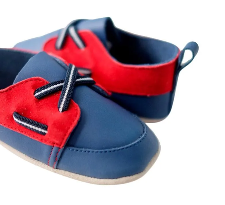 [TinySoles] Pre-walkers Soft Soled Baby Walking Shoes - Navy Loafer in size XL- 100% Genuine Leather
