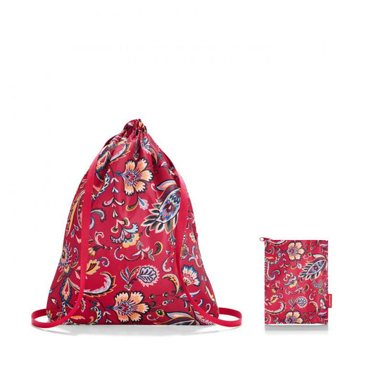 [Reisenthel] Mini Maxi Sack Bag in Paisley Ruby Stylish Design, Washable, Waterproof