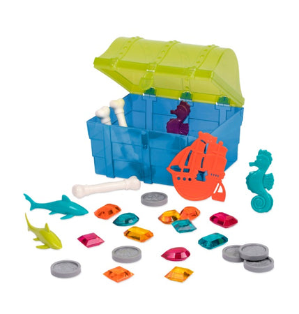 [Battat] Pirate Diving Set Pool Toys in a Treasure Chest 28 pieces BT2588Z - 8years+
