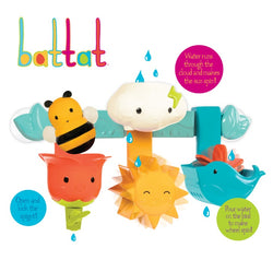 [Battat] Rain & Shine Bath Bar, 6 Removable Pieces & 2 Suction Cups Best Bath Toys for Toddlers Spin N Squirt BT2505Z - 1year+