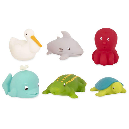 [Battat] Sea Creatures Bath Buddies Water Squirters 6 pcs set BT2605Z - 10months+