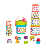 [Battat] Sort & Stack Set Stacking Cups with Shape Sorter 19 Pieces BT2529Z - 18months+
