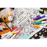 [Drawnby:] Space Adventures Washable Silicone Colouring Mat + 14pcs Markers Set