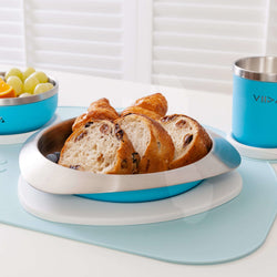 [VIIDA] The Soufflé Kids Antibacterial Stainless Steel Plate with Lid 550ml/18.6oz - Eco-Friendly, Safe, FDA Certified, SGS Tested