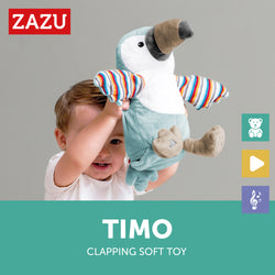 [Zazu] Interactive Soft Toy with Clapping Hands and Sound, Timo the Toucan - 0months+