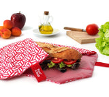 [Roll'Eat] Boc'n'Roll - (Tiles Design) - Reusable Sandwiches Food Wrappers, Dirty-Proof & Waterproof - Available in 3 Colours