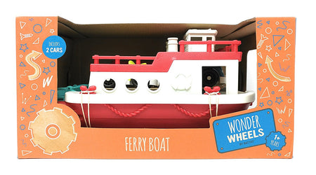 Wonder Wheels Ferry Boat with 2 Cars (Red)