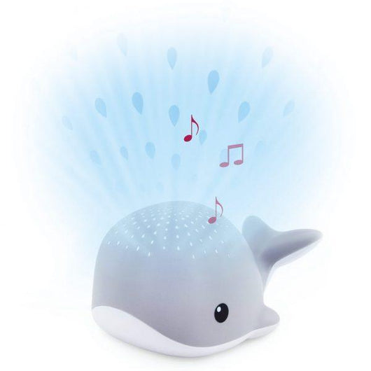 [Zazu] Bedtime Light Projector Sleep Soother with Melodies and Cry Sensor, Wally the Whale - 0months+