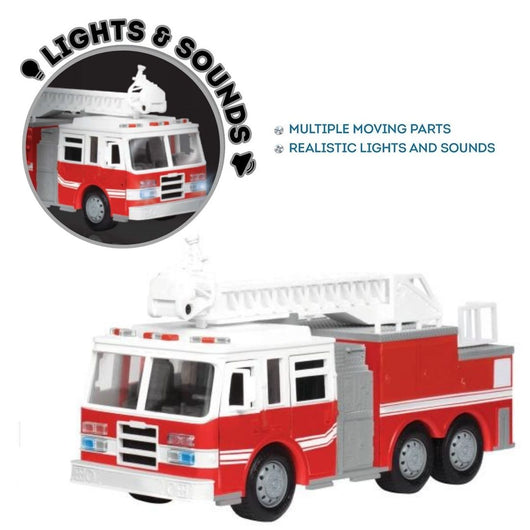 [Driven by Battat] Micro Series Fire Truck Realistic Lights and Sounds WH1007Z - 4years+