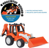 [Driven by Battat] Micro Series Backhoe Loader with Realistic Sound WH1009Z - 4years+