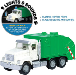 [Driven by Battat] Micro Series Recycling Truck with Realistic Lights and Sounds WH1010Z - 4years+