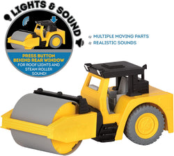 [Driven by Battat] Micro Series Steam Roller with Realistic Lights and Sounds WH1015Z - 4years+