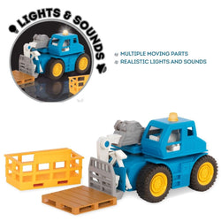 [Driven by Battat] Micro Series Telehandler with Realistic Lights and Sounds WH1016Z - 3years+