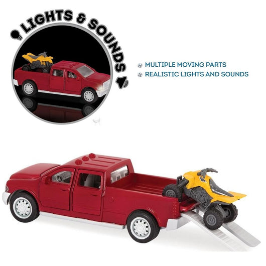 [Driven by Battat] Micro Series Pick-Up Truck with Realistic Lights and Sounds WH1017Z - 4years+