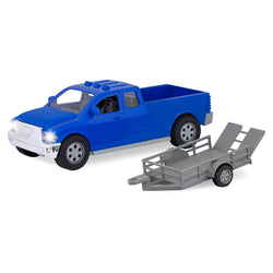 [Driven by Battat] Midrange Series - Pick-Up Truck - Mid-Sized Toy Truck in Blue - Available in 6 Designs