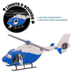 [Driven by Battat] Micro Helicopter Toy with Working Rotor, Lights & Sound WH1072Z - 3years+