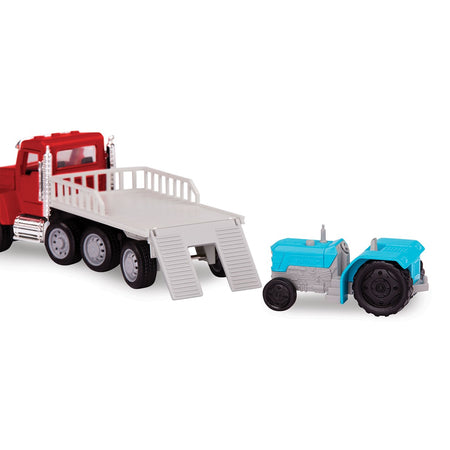 [Driven by Battat] Micro Series Flat Bed Truck with Realistic Lights and Sounds WH1073Z - 3years+