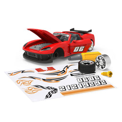 [Driven by Battat] Midrange Series - Take Apart Sports Car - Mid-Sized Toy Car in Red - 35 pieces - Available in 2 Designs