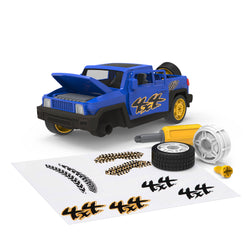 [Driven by Battat] Midrange Series - Take Apart SUV - Mid-Sized Toy Truck in Blue - 34 Pieces - Available in 2 Designs