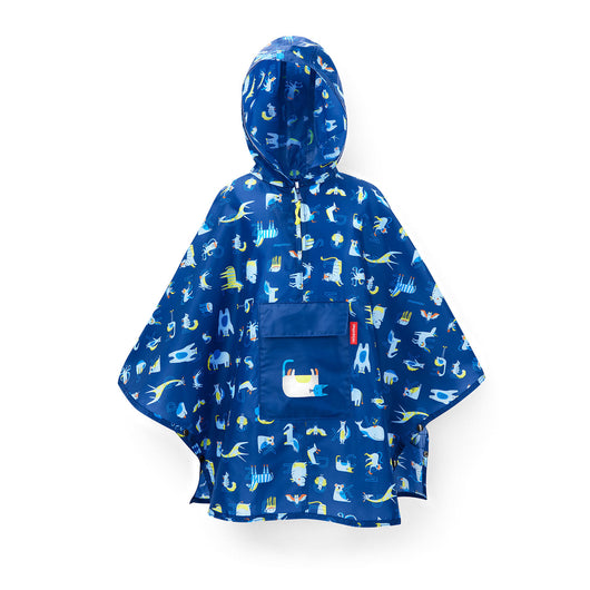 [Reisenthel Kids] Lightweight Poncho Raincoat with Pocket Foldable and Portable for Kids - 6 designs