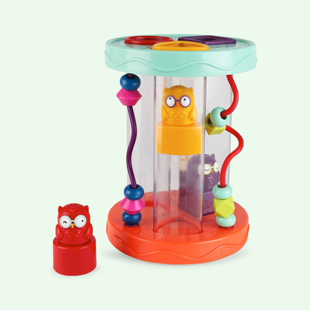 [B.Toys] Hooty-Hoo Shape Sorter with Hoot Sounds BX1384Z - 10months+