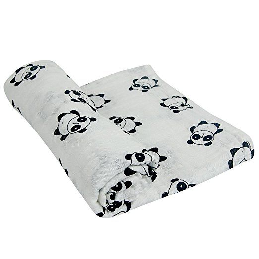 [Bebe Living] Baby Toddler Muslin Swaddle / Blanket - Panda Design