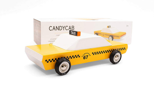 [Candylab Toy] Candycab Wooden Car - Modern Vintage Style - Solid Beech Wood