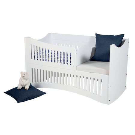 [M-Kids] COZY Baby Bed  5-in-1 Convertible – Cradle, Cot, Crib, Junior Bed and Sofa - 5-step Headboard Elevation - PREORDER ONLY