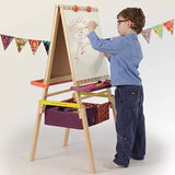 [B.Toys] Easel Does It - Folding Wooden Art Easel with Chalkboard, Whiteboard, and Storage Bins - 3years+