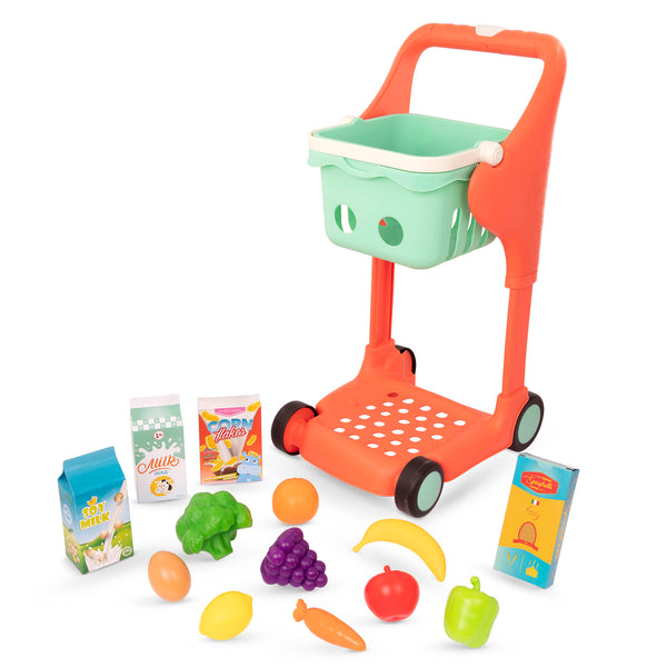 [B. Toys] Shop & Glow Musical Supermarket Grocery Shopping Cart with Music and Light and Adjustable Height